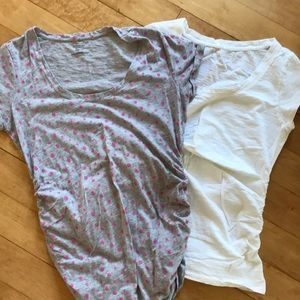 Two size medium maternity t-shirts